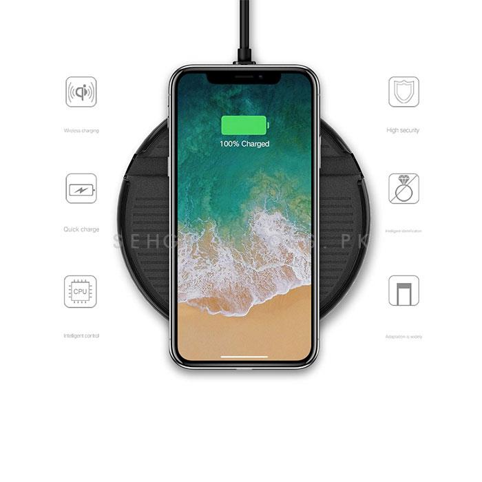 Car Wireless Mobile Charger Stand Charging Mount -SehgalMotors.Pk