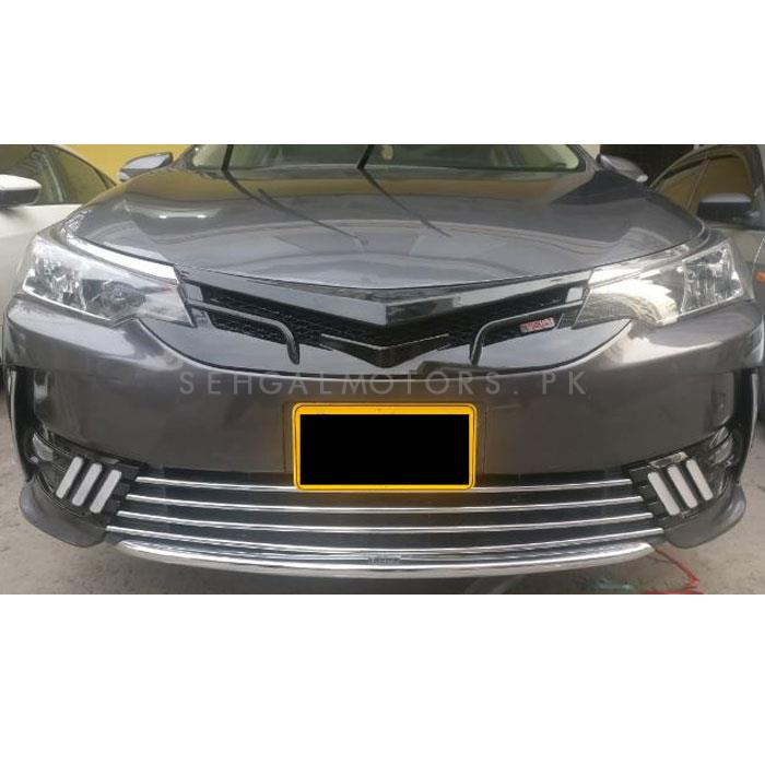 Toyota Corolla Face Lift Lower Grille Chrome Trims - Model 2017-2019-SehgalMotors.Pk