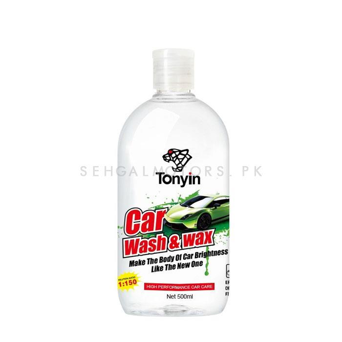 Tonyin Car Wash and Wax - 500ml | Car Shampoo | Car Cleaning Agent | Car Care Product | Glossy Touch Shampoo | Mirror Like Shine-SehgalMotors.Pk