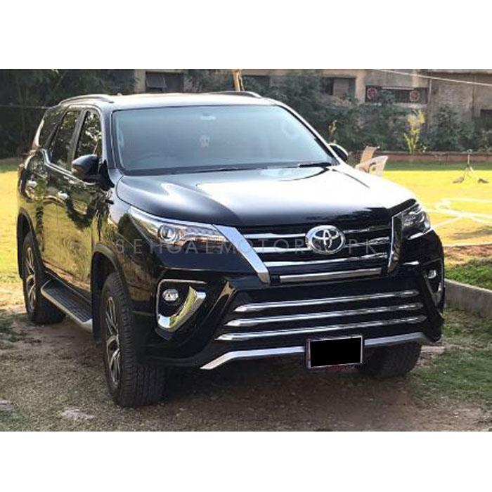 Toyota Fortuner Zigma Style Body Kit With Chrome 2 Pcs Version 2- Model 2017 - 2018-SehgalMotors.Pk