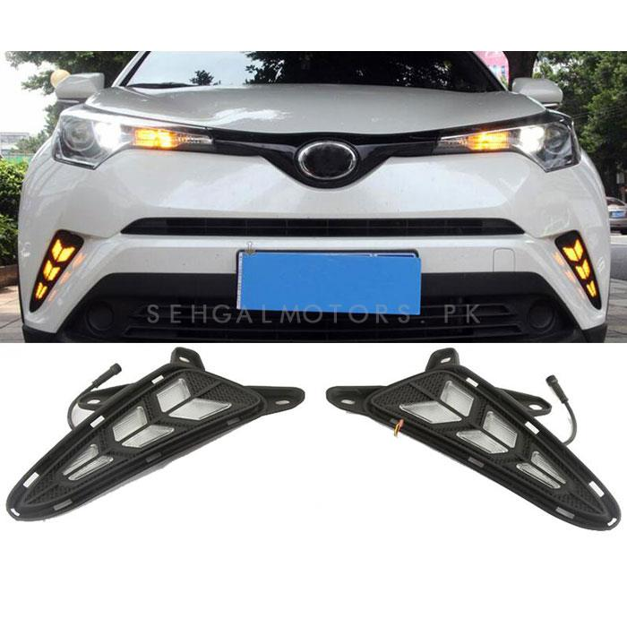 Toyota CHR Front LED DRL Tail Arrow Style - Model 2017-2019-SehgalMotors.Pk