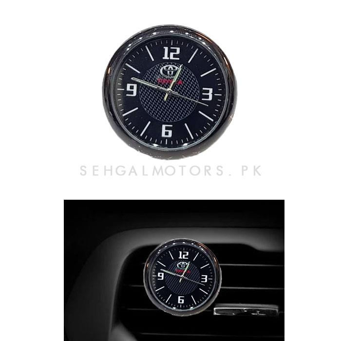 Toyota Car Dashboard And AC Grill Clock-SehgalMotors.Pk