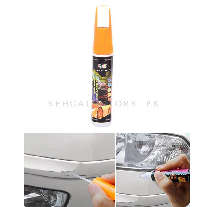 Car Scratch Filling Paint Color Pen Pure White-SehgalMotors.Pk