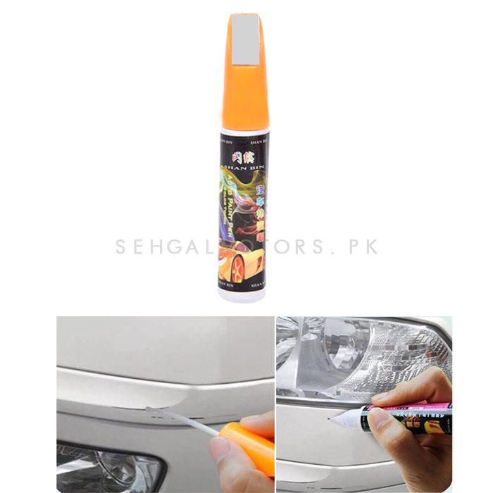 Car Scratch Filling Paint Color Pen Silver Gray-SehgalMotors.Pk