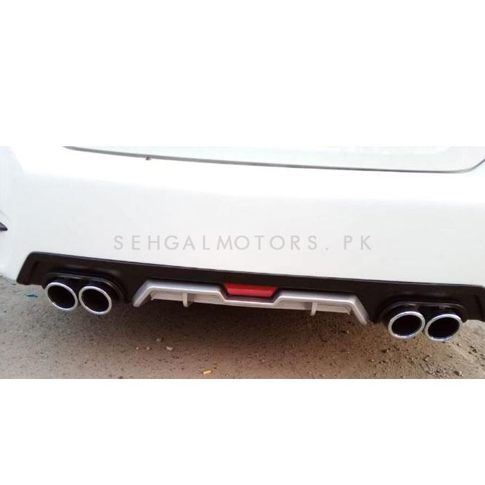 Honda Civic Kantara Style Dual Exhaust Diffuser- Model 2016-2019-SehgalMotors.Pk
