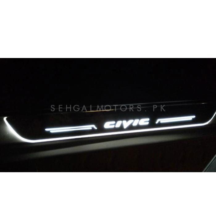 Honda Civic Sill Plates / Skuff LED panels with LED Bar White - Model 2016-2020-SehgalMotors.Pk