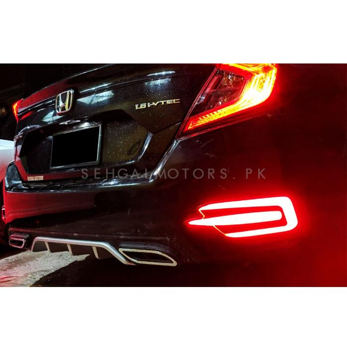 Honda Civic Rear Bumper Brake Lamp Lava Style - Model 2016 - 2020-SehgalMotors.Pk