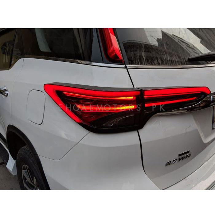 Toyota Fortuner Rear Tail Light Cover with Led Light bar - Model 2016-2019-SehgalMotors.Pk