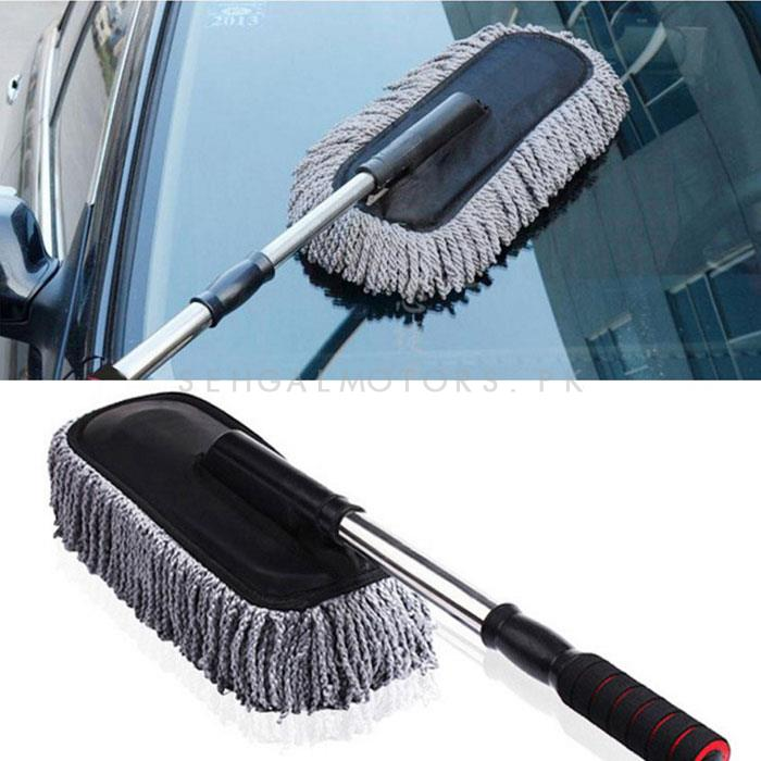 Maximus Car Big Duster and Wash Brush | Dusting for Car | Microfiber Expandable Wet & Dry Use Duster-SehgalMotors.Pk