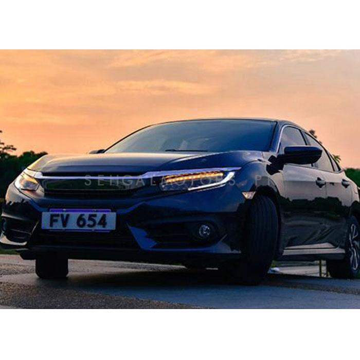 Honda Civic Sequential LED Headlights / Head Lamps Pair- Model 2016-2019-SehgalMotors.Pk