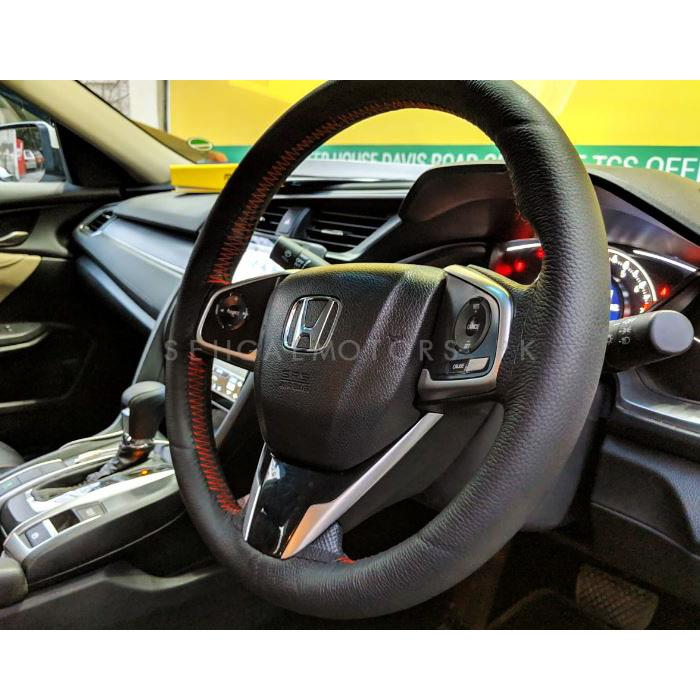Maximus Genuine Leather Steering Cover | With Thread & Needle | Heat Resistant | Long Life-SehgalMotors.Pk