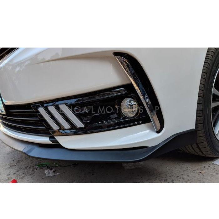 Toyota Corolla Mustang Style Face Lift DRL Cover Chrome - Model 2017-2019-SehgalMotors.Pk