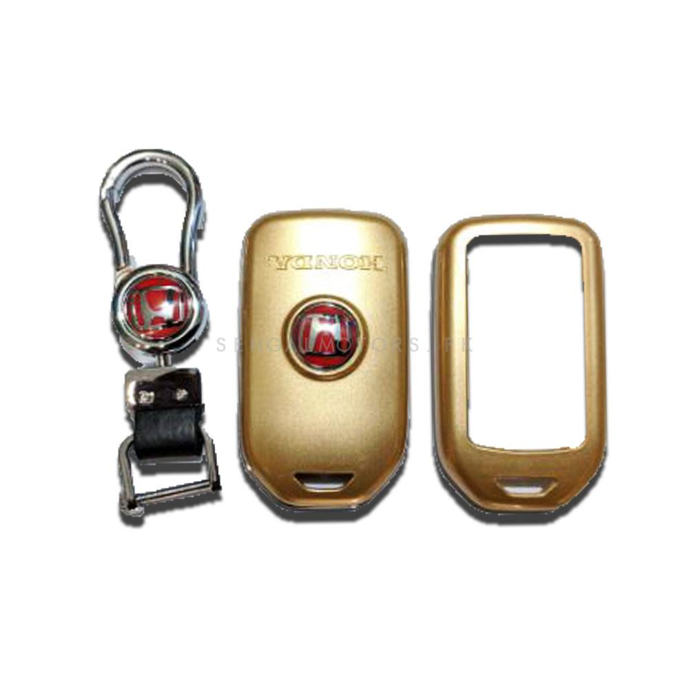 Honda Civic Replacement Key Shell Case Cover  With Civic Logo Gold - Model 2016-2021-SehgalMotors.Pk