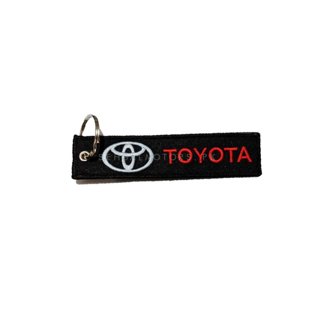 Toyota Logo Cloth Key Chain / Key Ring | Key Chain Ring For Keys | New Fashion Creative Novelty Gift Keychains-SehgalMotors.Pk