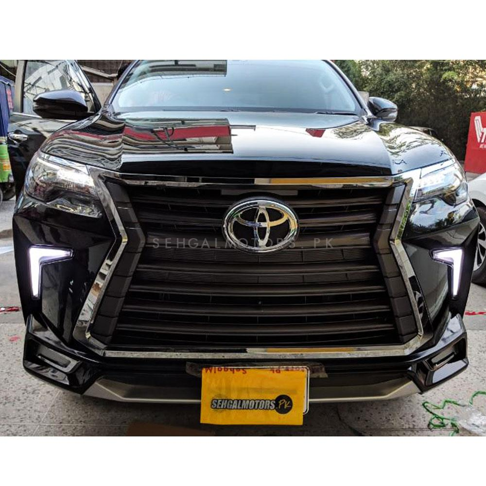 Toyota Fortuner NKS Lexus Style Body Kit Version 2 Black - Model 2016-2019-SehgalMotors.Pk