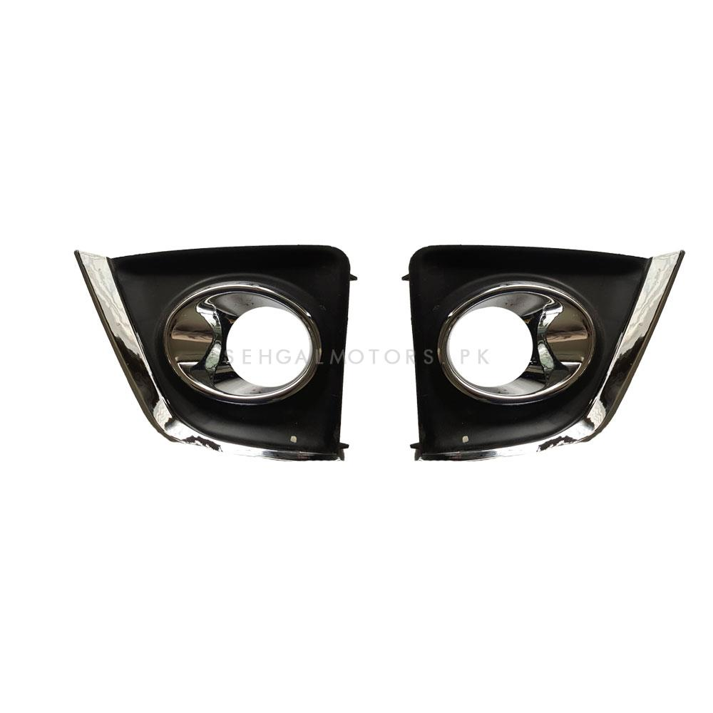 Toyota Corolla Full Chrome Fog Lamps Cover - Model 2014-2017-SehgalMotors.Pk