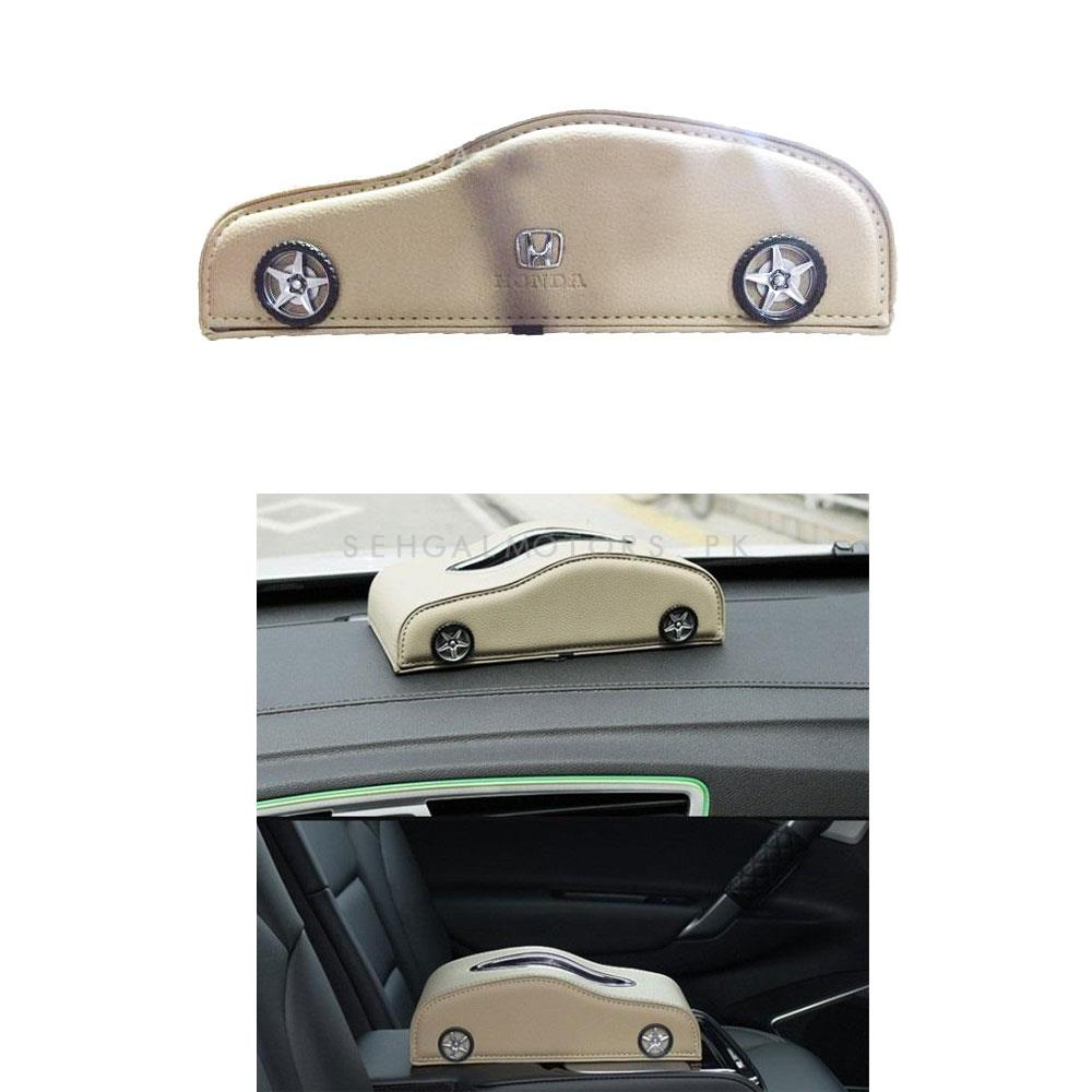 Car Style Leather Car Tissue Box Beige   Tissue Holder   Modern Paper Case Box   Napkin Container Tray   Towel Desktop-SehgalMotors.Pk