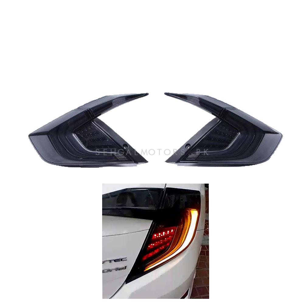Honda Civic Lava Style Sequential Back Lamps / Back Lights Smoke Version 3 - Model 2016-2020-SehgalMotors.Pk