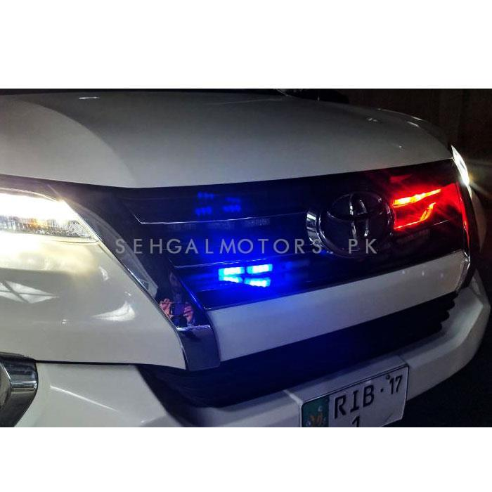 Police Red and Blue Flashers For Grille | Random Movements-SehgalMotors.Pk