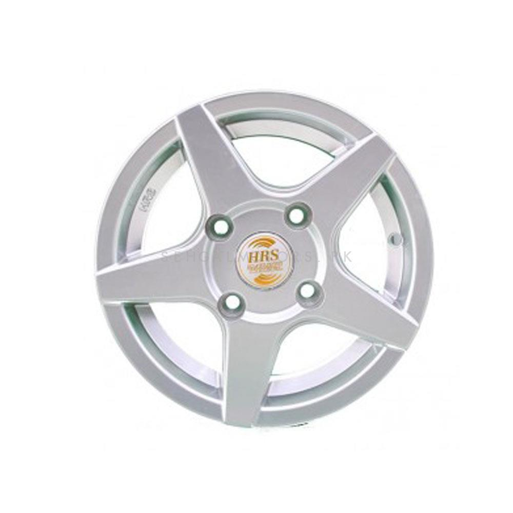 HRS Alloy Rim Blue 114 PCD 4 Hole (Set of 4) - 12 inches-SehgalMotors.Pk