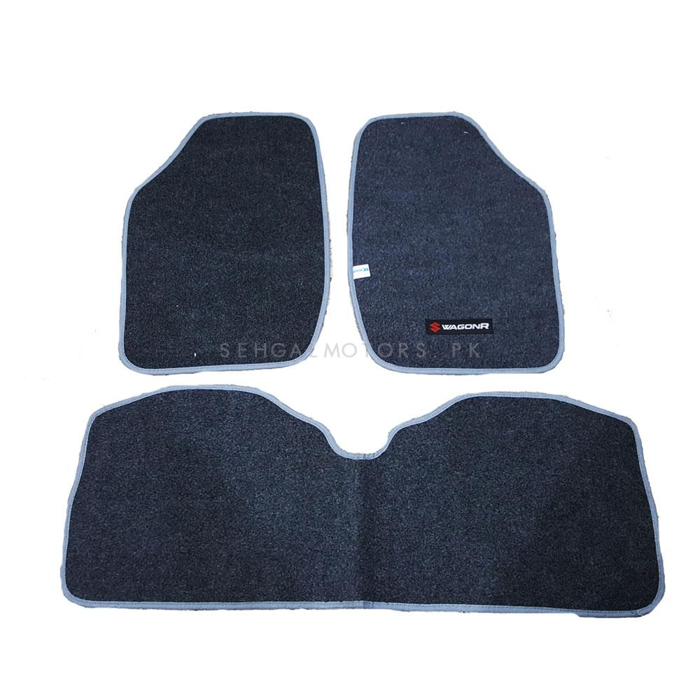 Suzuki Wagon R Custom Fit Carpet Floor Mat Grey - Model 2014-2019-SehgalMotors.Pk