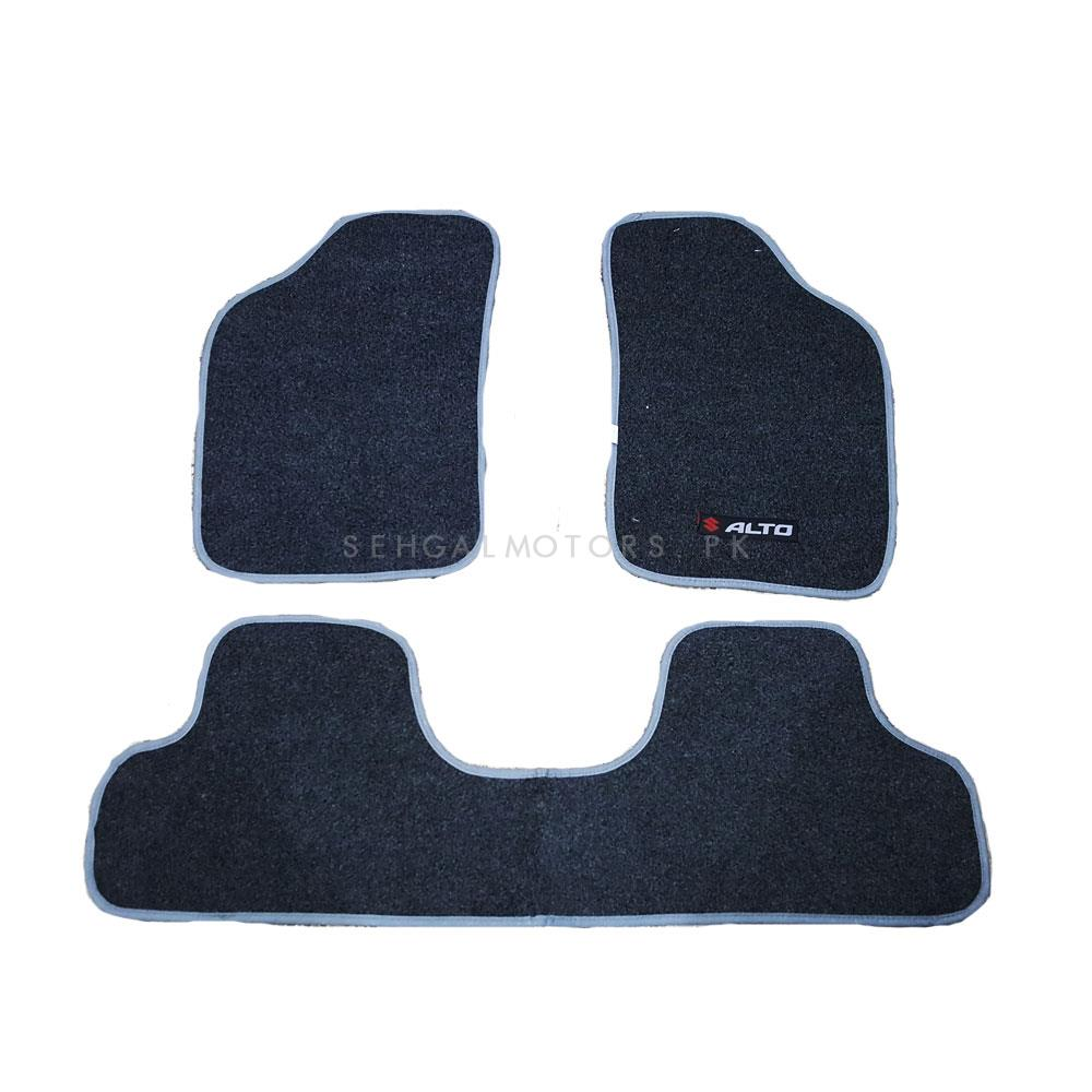 Suzuki Alto Custom Fit Carpet Floor Mat Grey - Model 2014-2018-SehgalMotors.Pk