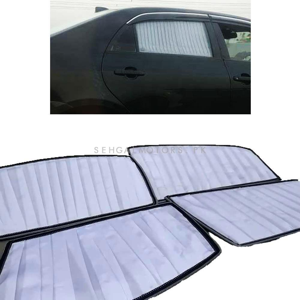Honda City White Side Sun Shades - Model 2003-2006-SehgalMotors.Pk