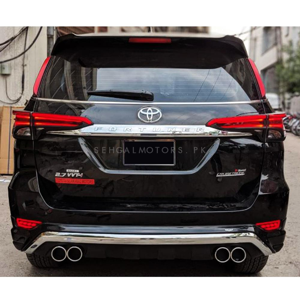 Toyota Fortuner Rear Tail Light Cover with LED Light bar - Model 2016-2020-SehgalMotors.Pk