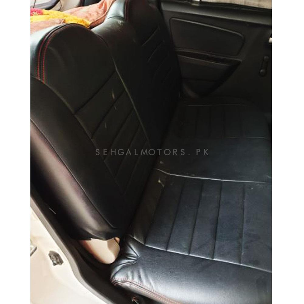 Suzuki Wagon R Seat Covers Black With Red Stitching - Model 2014-2019-SehgalMotors.Pk