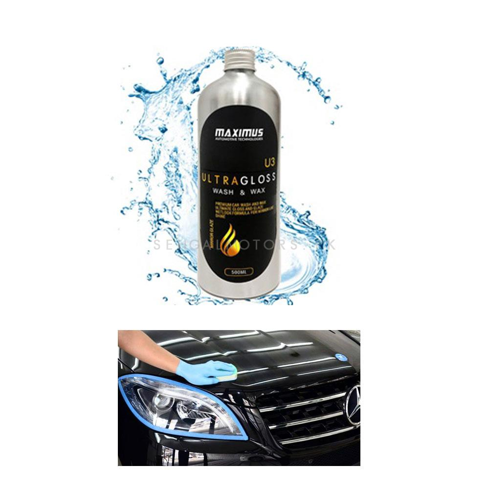 Maximus Ultra Gloss Wash & Wax Shampoo U3 500ml  | Car Shampoo | Car Cleaning Agent | Car Care Product | 2 in 1 Product | Glossy Touch Shampoo | Mirror Like Shine-SehgalMotors.Pk