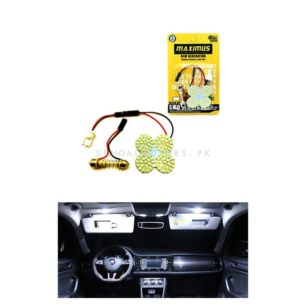 Maximus 4 SMD Roof Dome Light LED SMD CREE White | Super Bright Interior-SehgalMotors.Pk