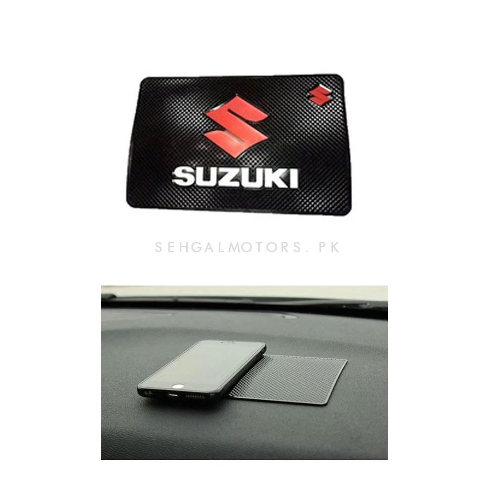 Suzuki Dashboard Non Slip / Anti-Skid Mat With Red Logo-SehgalMotors.Pk