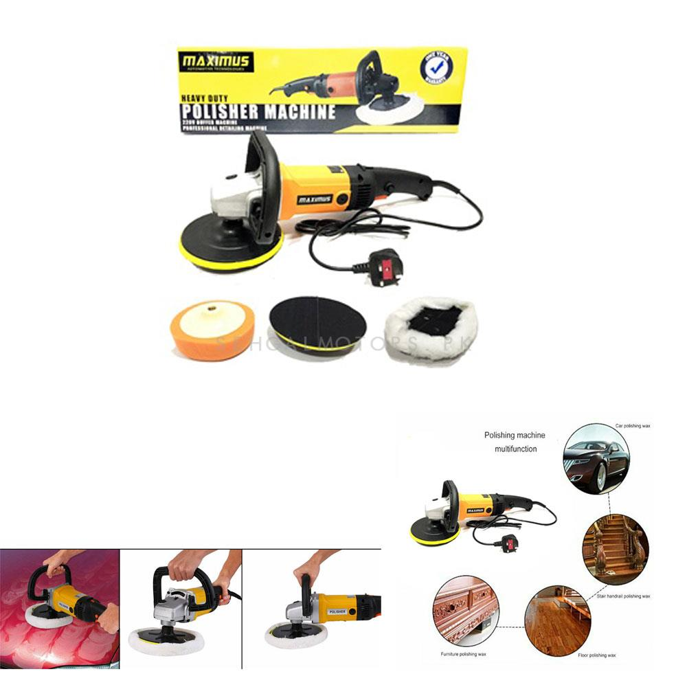 Maximus Professional Heavy Duty Polisher Machine with Speed Control | Grinder | Buffer | Sander | Detailing Equipment-SehgalMotors.Pk