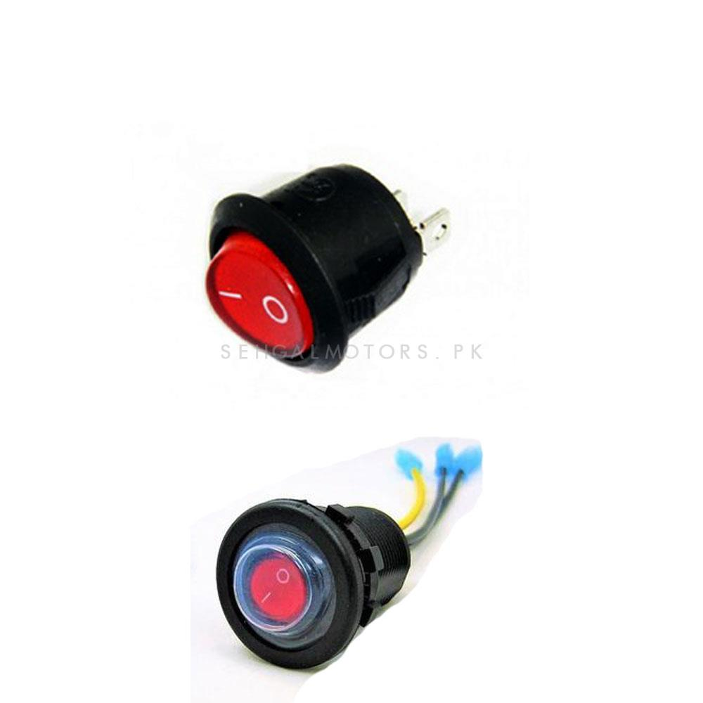 Red Led Switch-SehgalMotors.Pk