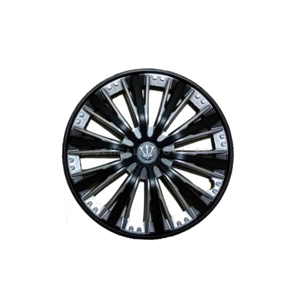 Wheel Cups / Wheel Covers ABS Black And Silver - 15 Inches-SehgalMotors.Pk