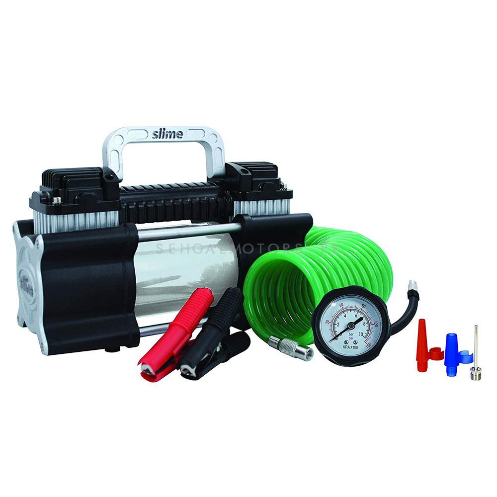 Slime Double Cylinder Heavy Duty Direct Drive Tyre Inflator-SehgalMotors.Pk