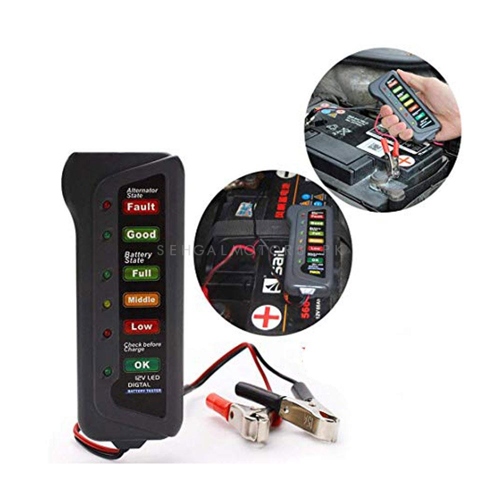 12 Volt Analog Battery Tester Charging System Analyzer-SehgalMotors.Pk