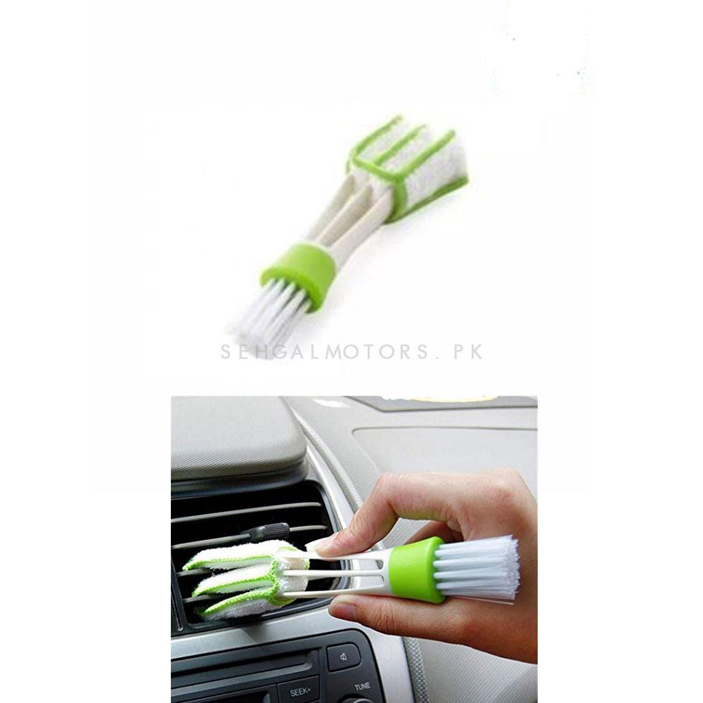 Detailing Brush 3 Way | Car Detail Tools Brush Long Durable 2 In 1 Double Slider Car Clean Auto Cleaning Accessories-SehgalMotors.Pk