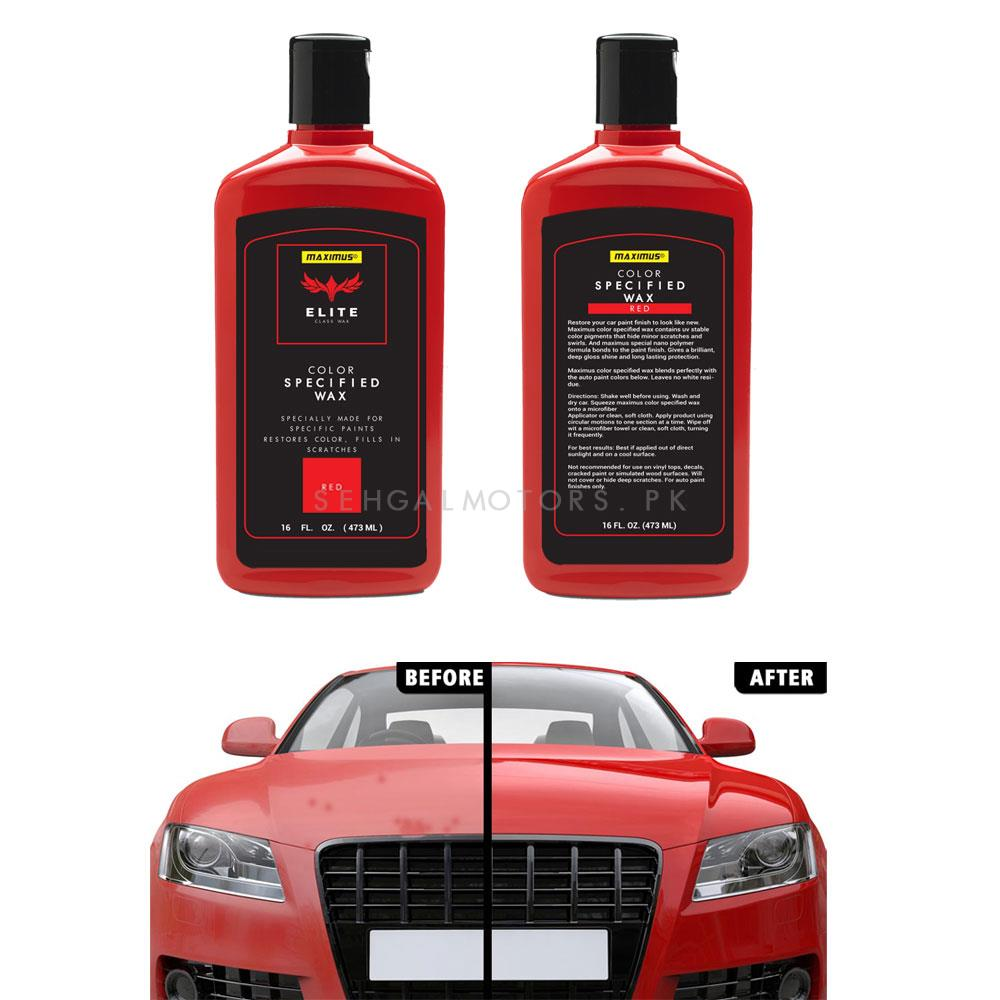 Maximus Elite Class Car Color Wax - Red-SehgalMotors.Pk
