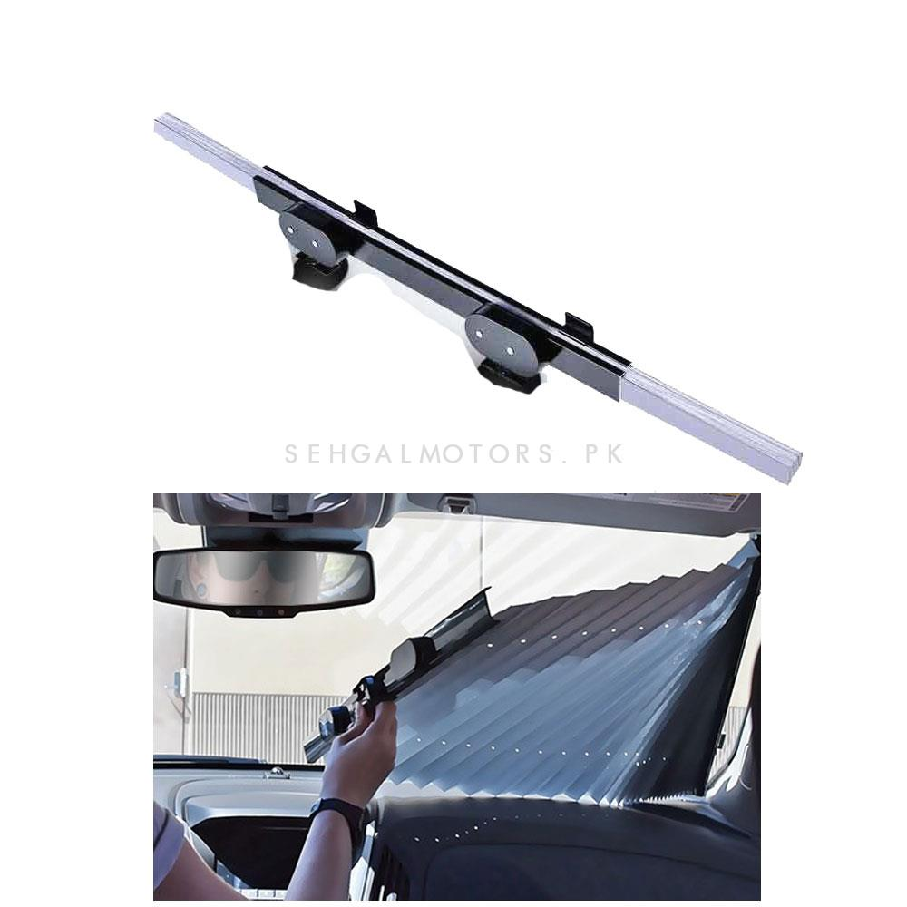 Car Universal Auto Front Screen Sunshade / Sun Shade - Each | UV Protection | Easy to Use | Rejects Sunlight | Flexible & Foldable | High Endurance to Heat-SehgalMotors.Pk
