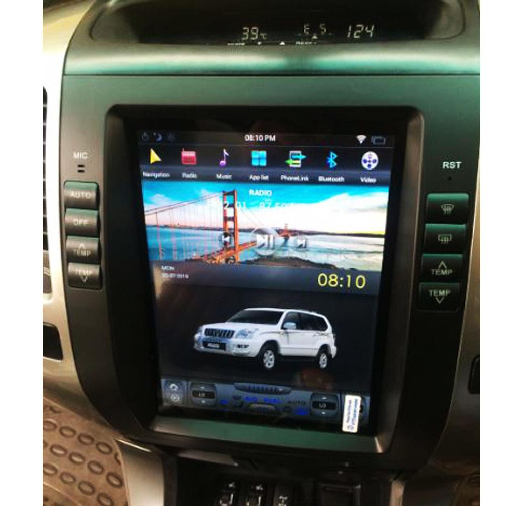 Toyota Prado Tesla Style IPS Display LCD Multimedia System Android 11 Inches  - Model 2002-2009-SehgalMotors.Pk