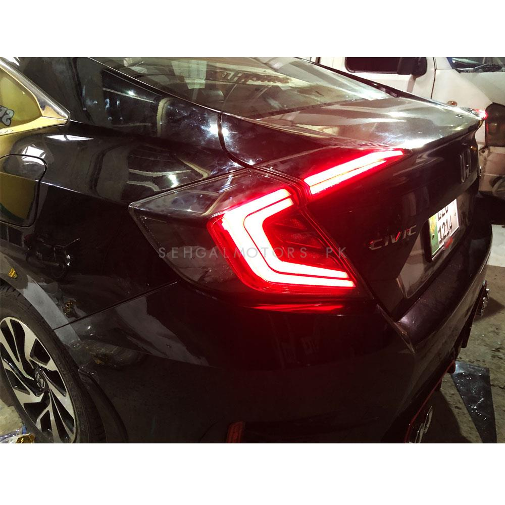 Honda Civic Cobra Double Bar Style Lava Back Lamps - Model 2016-2019-SehgalMotors.Pk