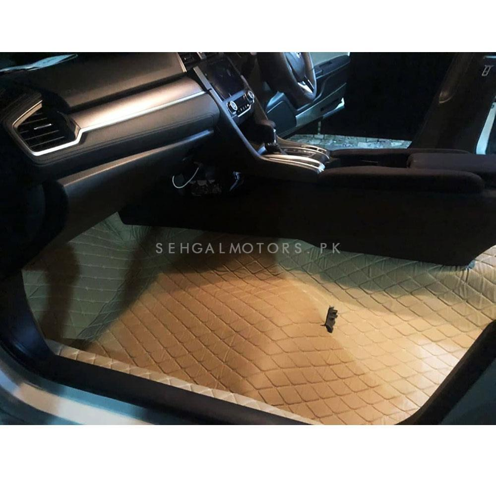 Customize 7D Floor Mat Roll For Car Matting - Beige  Per Ft Running Length-SehgalMotors.Pk