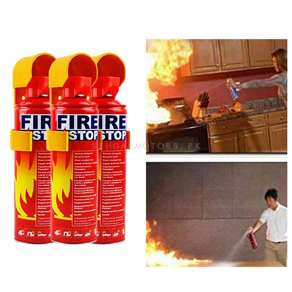Fire Extinguisher Can Fire Stop Pack Of 5  | Portable Size Lightweight Household Car Use Fire Extinguisher | Compact Fire Extinguisher for Laboratories, Hotels, Cars | Fire Extinguisher Safety Flame Fighter Home Office Car-SehgalMotors.Pk