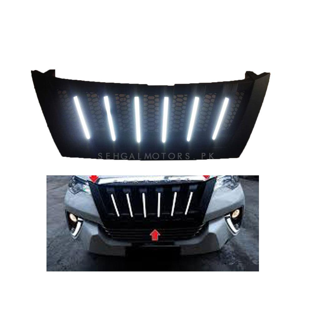 Toyota Fortuner Navara Style Front LED Chrome Grille - Model 2016-2019-SehgalMotors.Pk