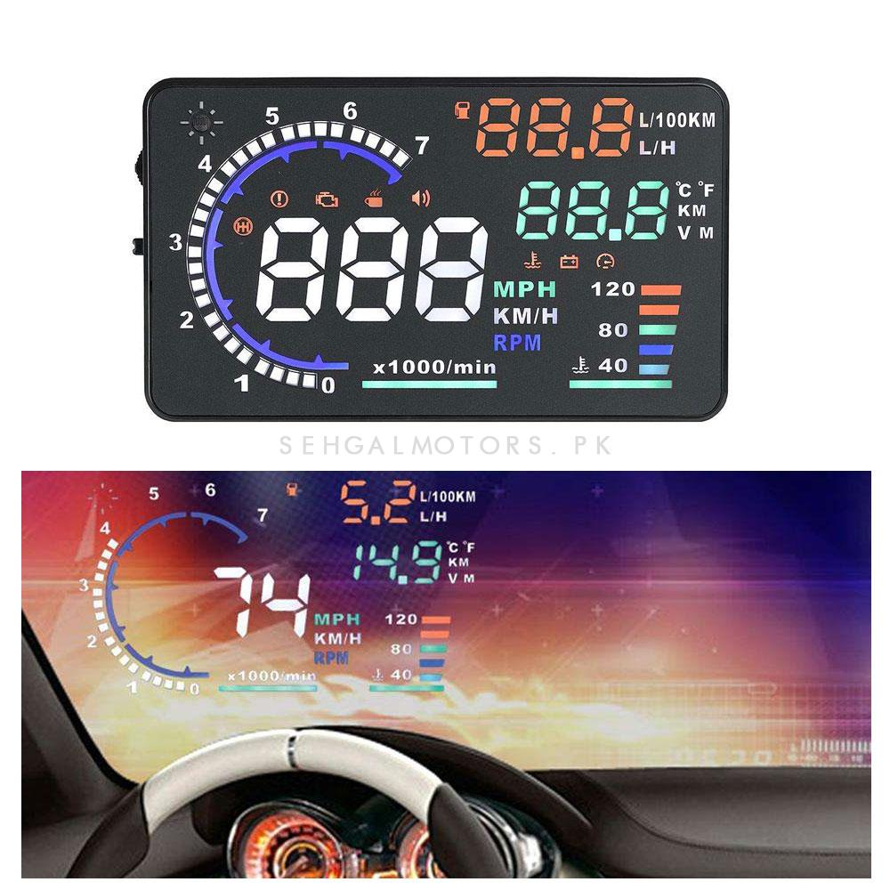 OBD2 Scanner Projecto HUD Head Up Display LED Windscreen -SehgalMotors.Pk