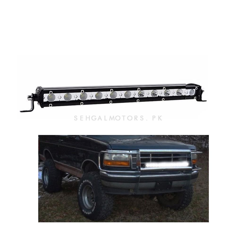 12 SMD Slim Style Roof LED Bar Light | High Accuracy Jeep Light | Sharp Light | Jeep Decoration Light | Flood Spot Combo Beam Offroad Light Driving Fog Lamp-SehgalMotors.Pk