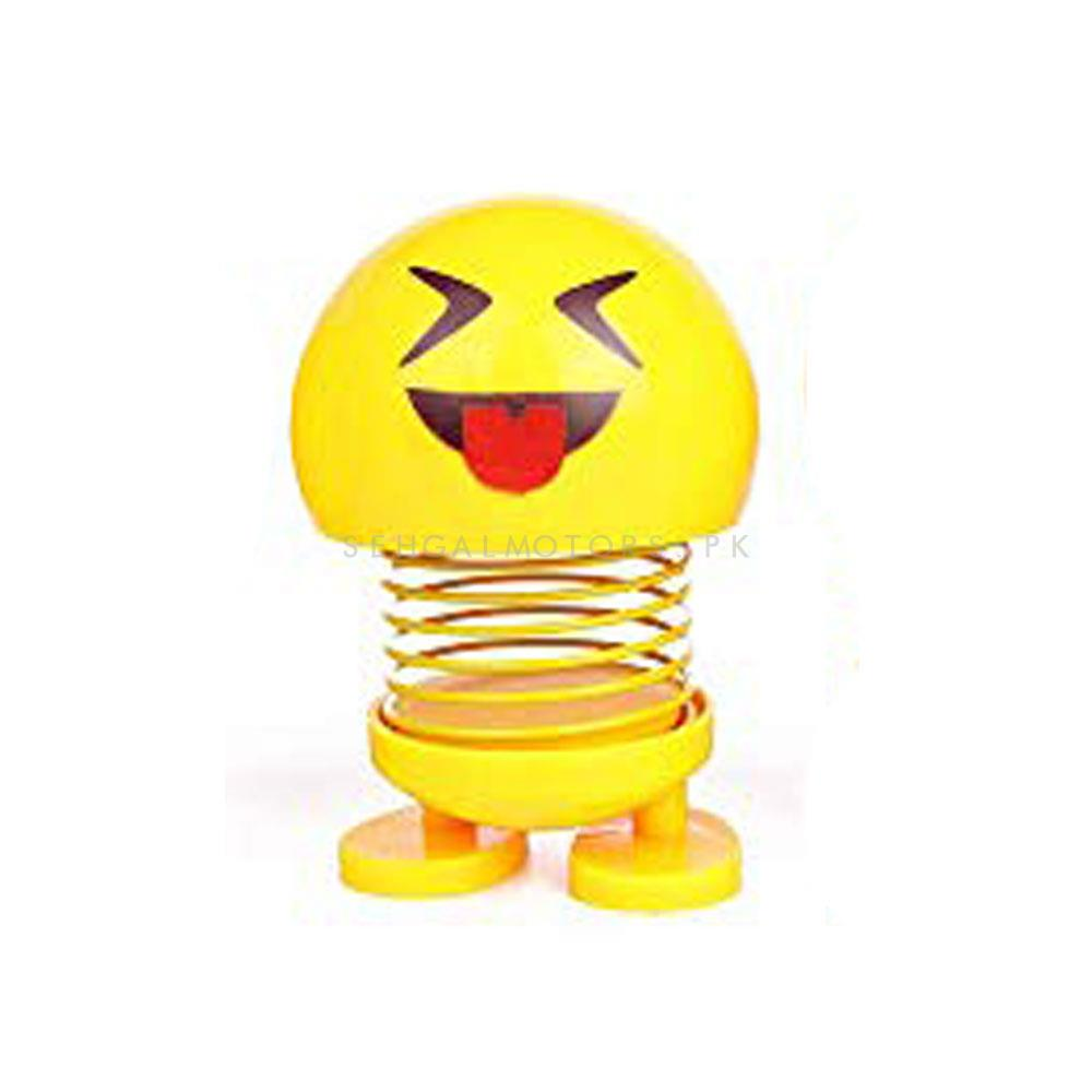 Mini Bouncing Car Dashboard Smileys Emoji Emoticon Toy Random - Each-SehgalMotors.Pk