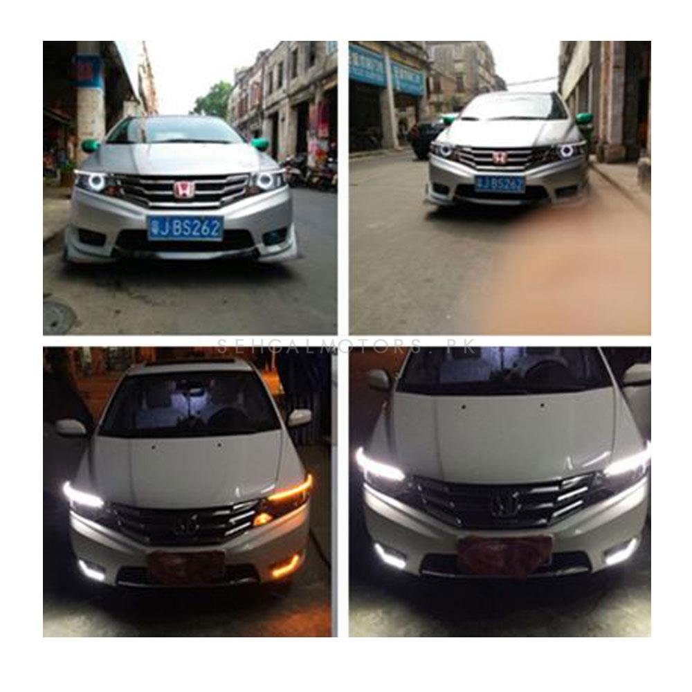 Honda City Headlight LED Eyebrow Chrome - Model 2017-2020-SehgalMotors.Pk