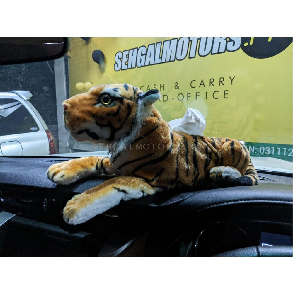 Tiger Style Fancy Dashboard Tissue Box Cover  | Tissue Holder | Modern Paper Case Box | Napkin Container Tray | Towel Desktop-SehgalMotors.Pk